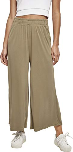 Urban Classics Damen Ladies Modal Culotte Hose, Khaki, L