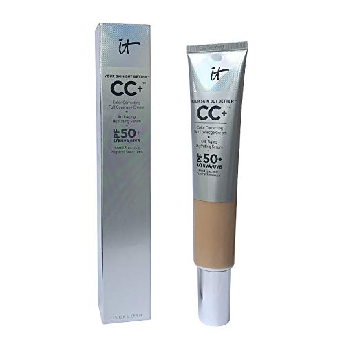 It Cosmetics Your Skin but Better Cc+ Cream SPF 50+ Supersize 2.53 Fl Oz Neutral Tan