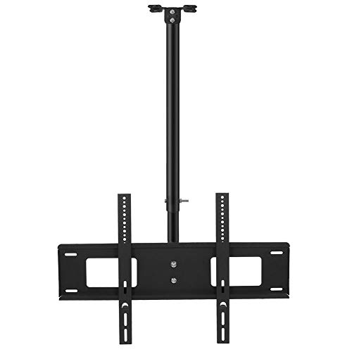 Zerone Tilt & Swivel Universele Montagehouder, 32-63in TV Plafond TV Bevestiging Verticaal 15°/Horizontaal 360° Strijkijzer Plafond TV Houder