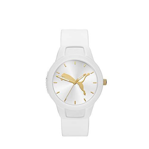 PUMA Women Reset V2 Polyurethane Watch, Color: White (Model: P1013)