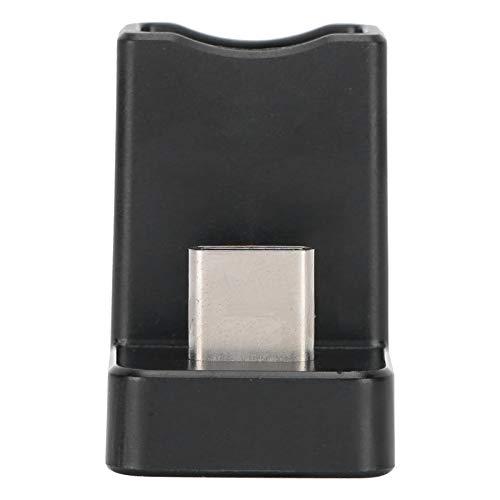 Socobeta Adaptador de ángulo de Tipo c de Datos USB de plástico 3A Corriente de 90 Grados Velocidad de Transferencia del Extensor 10gbit / s USB 3.1 para computadora portátil