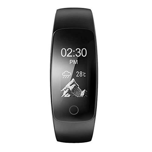 GLEMFOX Touchscreen Smart Watch Waterdichte Super-Langdurige stand-by sportarmband met GPS Bluetooth en hartslagmeter, compatibel met Android- en iOS-mobiele telefoons zwart
