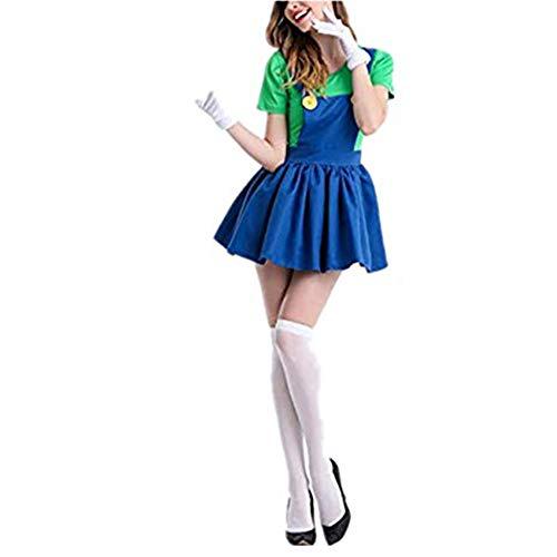 Mitef Super Mario Cosplay Halloween Carnival Disfraz Funny Hermano Luigi