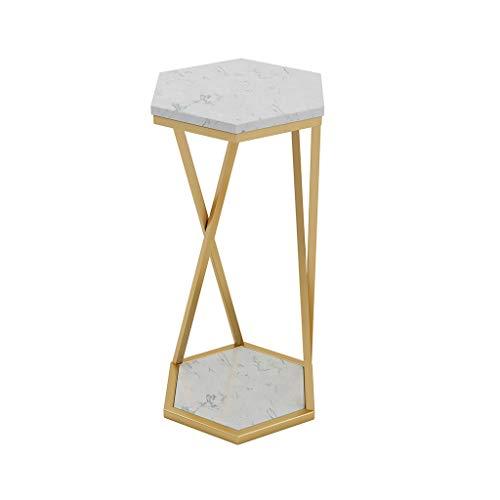 Woonkamer bijzettafel, smeedijzeren marmer bloem staander decoratie binnen bloem stand tafel bloempot staanplaats