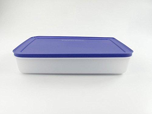 TUPPERWARE Recipiente para congelador, 2,25 L, plano, cristal de hielo, color lila...
