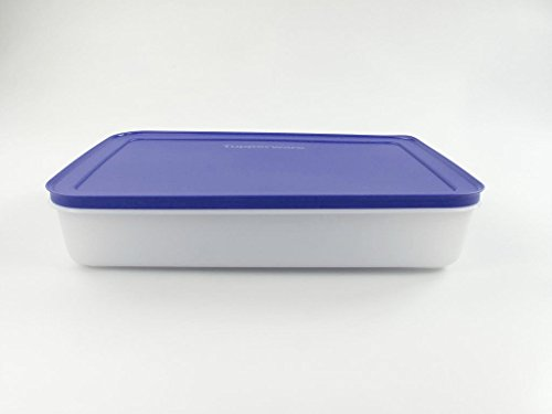 TUPPERWARE Gefrier-Behälter 2,25 L flach Eis-Kristall Eiskristall lila weiß 15181