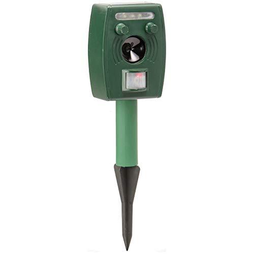 Tooltime Solar Ultrasonic LED Lights Garden Animal Repeller + Rechargeable Batteries - Pest Control Cat Scarer Rodent Fox Deer Deterrent