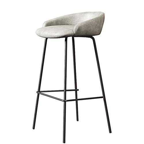 YUBINSilla De Bar, 29 pulgadas Cocina Desayuno Taburete, taburete con cuero de la PU for silla de comedor asiento acolchado for la cocina |Pub |Patio tienda de café de alta heces Negro metal Pierna Ma