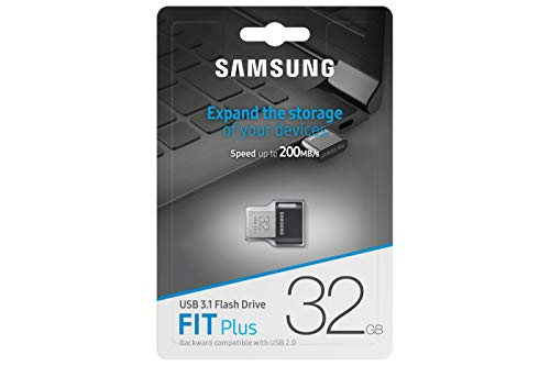 Samsung MUF-32AB/EU FIT Plus 32 GB Typ-A USB 3.1 Flash Drive Schwarz/Weiß