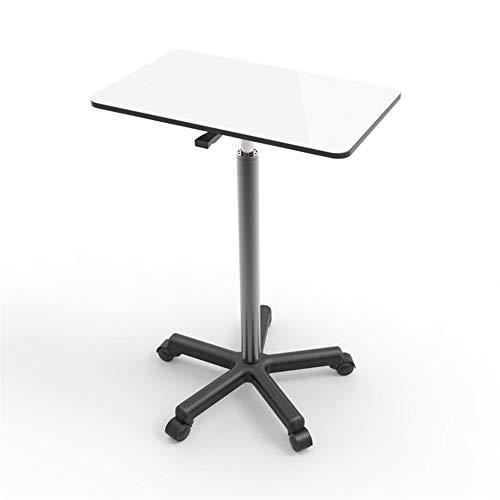 Mesa auxiliar AJMINI con marco de metal y ruedas, mesa auxiliar industrial, estaciones de trabajo de ordenador fácil de montar, mesa de café/aperitivos/almacenamiento para salón, dormitorio, balcón
