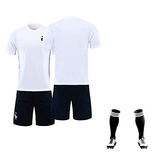 Mantianxing Fußball Trikot Kinder Jungen Herren personalisiertes Fussball Trikots T-Shirt Shorts Socken 3 teiliges Set, 20/21 Saison (Heim & Auswärts), Benutzerdefiniert Beliebiger Name und Nummer