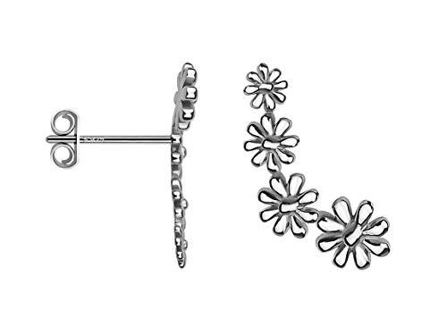 SOFIA MILANI - Damen Ohrringe 925 Silber - Ohrkletterer als Blume - 20568