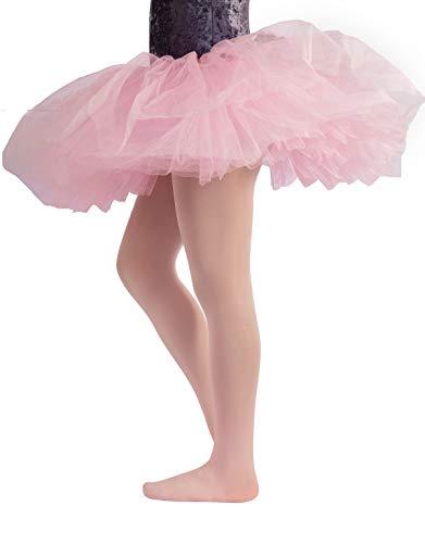 COLLANT DANZA BAMBINA | CALZE BALLET BIMBA | 40 DEN | ROSA, NERO, NATURALE, BIANCO | (10 anni, ROSA)