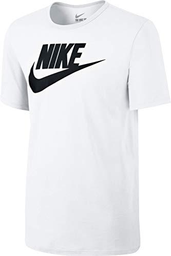 Nike Herren Tee-Futura Icon Training T-Shirt, Weiß/Schwarz, XL