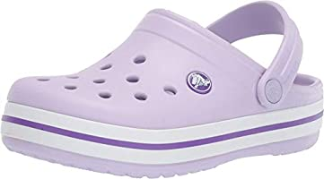 Crocs Crocband Clog K, Zuecos Unisex Niños, 34/35 EU, Morado (Lavender/Neon Purple)