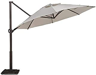 Abba Patio Replacement Top Cover for 11 Feet Offset Cantilever Umbrella, Beige (Frame not Including)