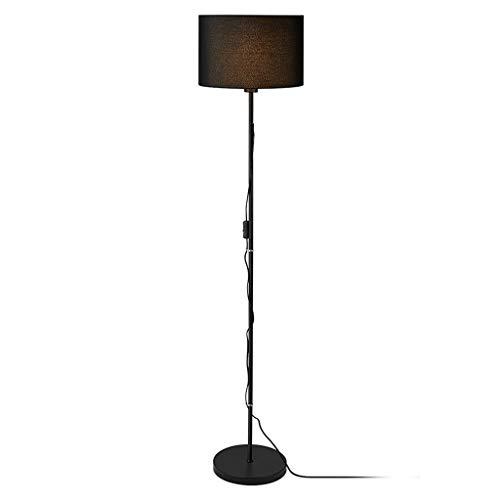 SOARLL staande lamp woonkamer slaapkamer Noordse studie modern minimalistisch creatief stof zwart lampenkap verticaal ijzer tafellamp staande lamp