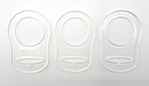 Silikonring (Adapter) für Schnuller - Schnullerhalter für Baby Schnullerketten aus weichem Silikon 100% BPA-Frei (3er Set)