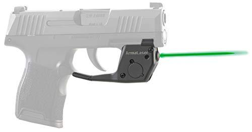ArmaLaser TR27G Designed to fit SIG Sauer P365 P365XL P365SAS Ultra Bright Green Laser Sight Grip Activation