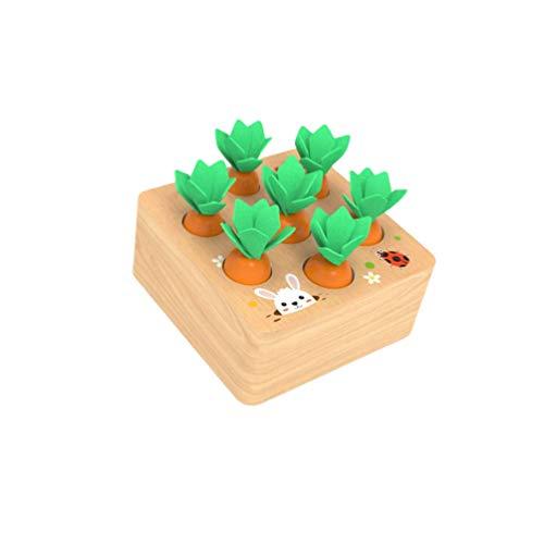 Toyvian Montessori holzspiel Mathe Spielzeug Karotte Spielen Puzzle Spielzeug pädagogisches Geschenk Spielzeug für Jungen mädchen