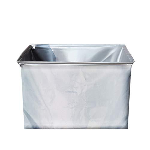 Floepx Home Creativa caja de almacenamiento plegable, duradera y robusta, caja plegable de plástico para dormitorio, oficina, tapa fija, transparente