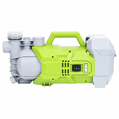 Tidyard Gartenpumpe, Akku Pumpe, Wasserpumpe Brunnenpumpe Kabellos Batteriebetrieben mit Ladegerät Regenwasserpumpe Akkupumpe Garten 180W 2800L/h
