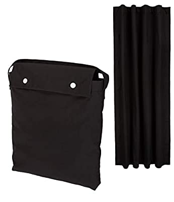 AmazonBasics Portable Travel Window Blackout Curtain Shades with Suction Cups