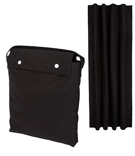 Amazon Basics – Cortina opaca de viaje con ventosas, color negro