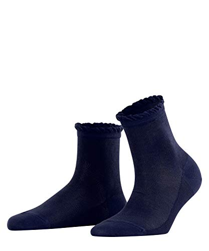 FALKE Damen Socken Noisy Floor, Baumwollmischung, 1 Paar, Blau (Midnight 6414), Größe: 41-42