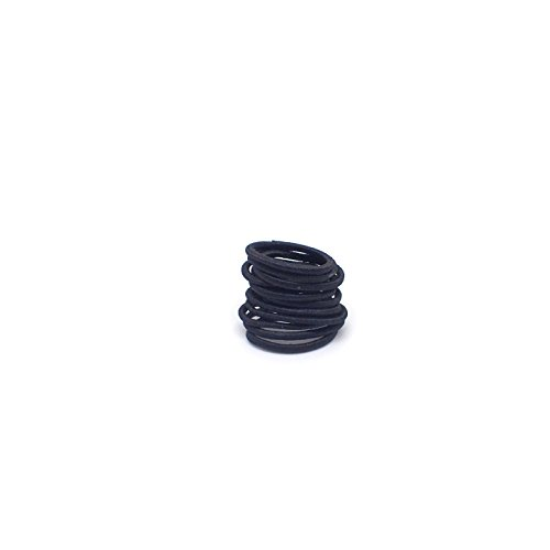 Girl's Hair Bobbles Bands Mini Baby Ponytail Elastic Stretchy Hairband, Baby small hair elastics bobbles bands, tiny hair band, girls bands (12x Black