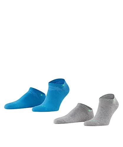 Burlington Herren Sneakersocken Everyday 2-Pack, Baumwolle, 2er Pack, Blau (Poolside 6692), 40-46 (UK 6.5-11 Ι US 7.5-12)