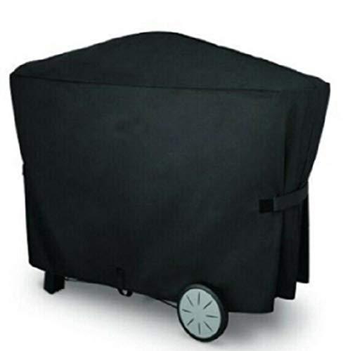 ANHPI--tarpaulins Grill Cover Barbecue Couverture Heavy Duty BBQ Couverture Oxford Tissu Grande imperméable Coupe-Vent UV résistant à la décoloration (Color : Black, Size : 112.4 * 64.1 * 95.6cm)
