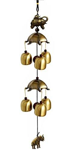 Black Temptation 2 Couches de Couleur de Bronze Carillon de Vent Alliage de cuivre