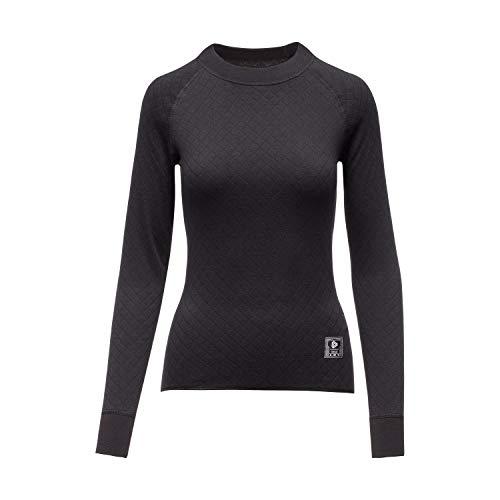 Thermowave 2in1 Thermounterwäsche Damen Shirt Langarm Zweilagige - Thermo Unterwäsche Frauen Feuchtigkeitstransportierende Langes Arbeitskleidung - Superwarme, Schnell Trocknende