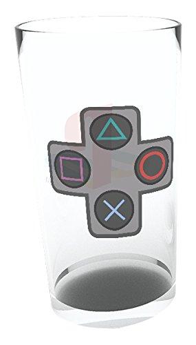 GB Eye Playstation Tasten Pint-Glas, Glas, mehrfarbig