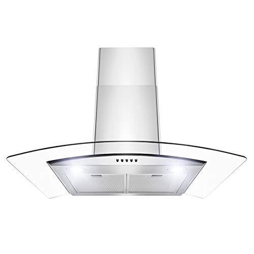 """Firebird RH0387 Wall Mount Range Hood –30"""" Stainless-Steel Hood Fan for Kitchen – 3-Speed..."""