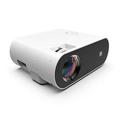Mini Portable Video Projector Mini Projector, 1000 Lumens Support Projector, 300-1200 Inch Display, Shooting Distance 1.25-2.5M, Compatible with HDMI, USB, VGA, TF, PS4, Laptop, TV Stick