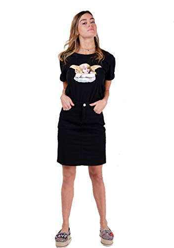 Wassen Kleding Bedrijf Dames Denim Mini Rok Zwart Korte Rok Nadine Katoen Zomer Rok UK 8-16