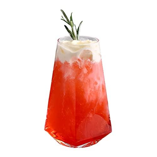 Copas de vino vaso, transparente geométrico de cerveza vidrio prismático copa de vino cristalería vaso de whisky vasos