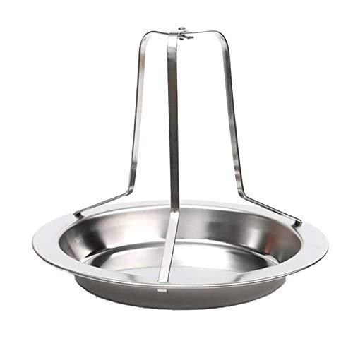 CHENGZI Soporte plegable para pollo, soporte vertical para horno de cerveza, soporte vertical para pollo, asador de pollo con bandeja de goteo para horno