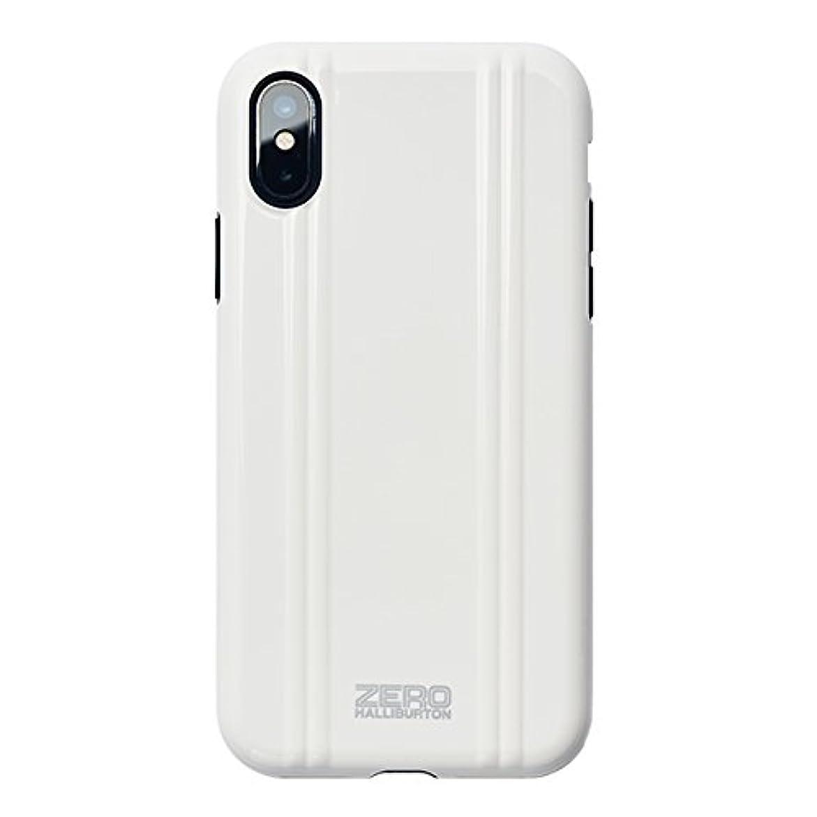 デッドロック間欠に負ける【iPhoneX専用ケース】ZERO HALLIBURTON(ゼロハリバートン) Hybrid Shockproof case for iPhone X スマホケース 米軍MIL規格取得 耐衝撃 (WHITE ホワイト)