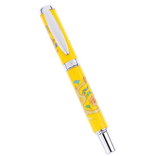 chiwanji Tintenroller, Chromlackierung Mit Feiner Punktschwarz Mine - Farbe1