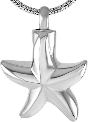 TYBM Ascheanhängerashes Memorial Ocean Star Memorial Aquarium Schmuck Feuerbestattung Halskette Anhänger Halter Asche Souvenir Stahl