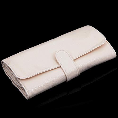 24/18/12/10 Fente Brosse Couvercle de Protection de Maquillage boîte de Maquillage de Sac de Brosse de Maquillage Sac de Stockage de Sac de roulement Voyage (Handle Color : 18 Slots Beige)