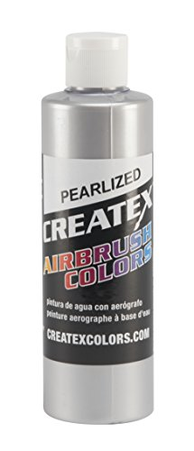 Createx Colors Paint for Airbrush, 8 oz, Pearl Silver by Createx Colors