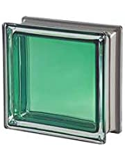 5 piezas Seves vitroladrillos Mendini jade metalizado 19 x 19 x 8