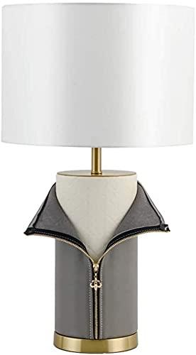 GDICONIC Lámpara LED Moderna Sala de Estar Minimalista decoración Sala de Juntas lámpara de Mesa Dise?Ador Creativo Cuero Aprendizaje Personalizado Dormitorio lámpara de Noche 36 * 72 cm