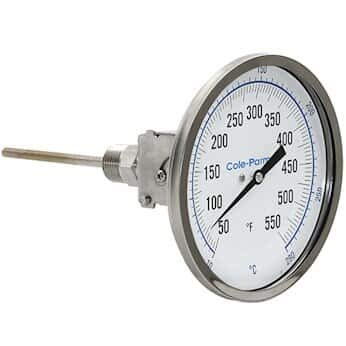 """Cole-Parmer Industrial Bimetal In stock Thermometer Adjust Dial 3"""" Oakland Mall"""