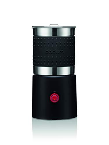 Bodum 11901-01EURO Bistro Schiumatore per Latte Elettrico 600 W, Ciotola in Acciaio Inox Staccabile