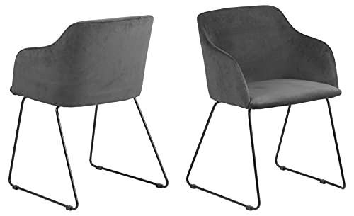 AC Design Furniture Nils Stuhl, Esszimerstuhl, Sessel, Loungestuhl, Stoff, Dunkelgrau, One Size